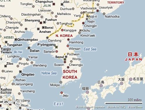 ↑Korea dalam Peta Asia↑