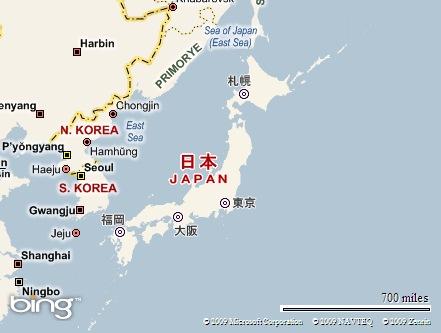 ↑Negara Jepang dalam Peta Asia↑