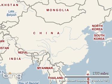 China dalam peta Asia