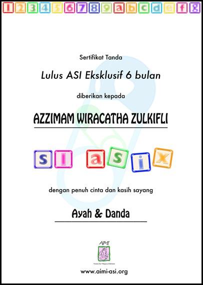 Sertifikat Lulus S1 ASI Zee